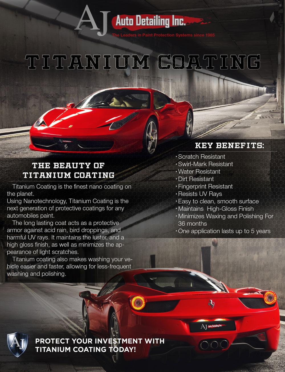 Titanium coating AJ AUTO